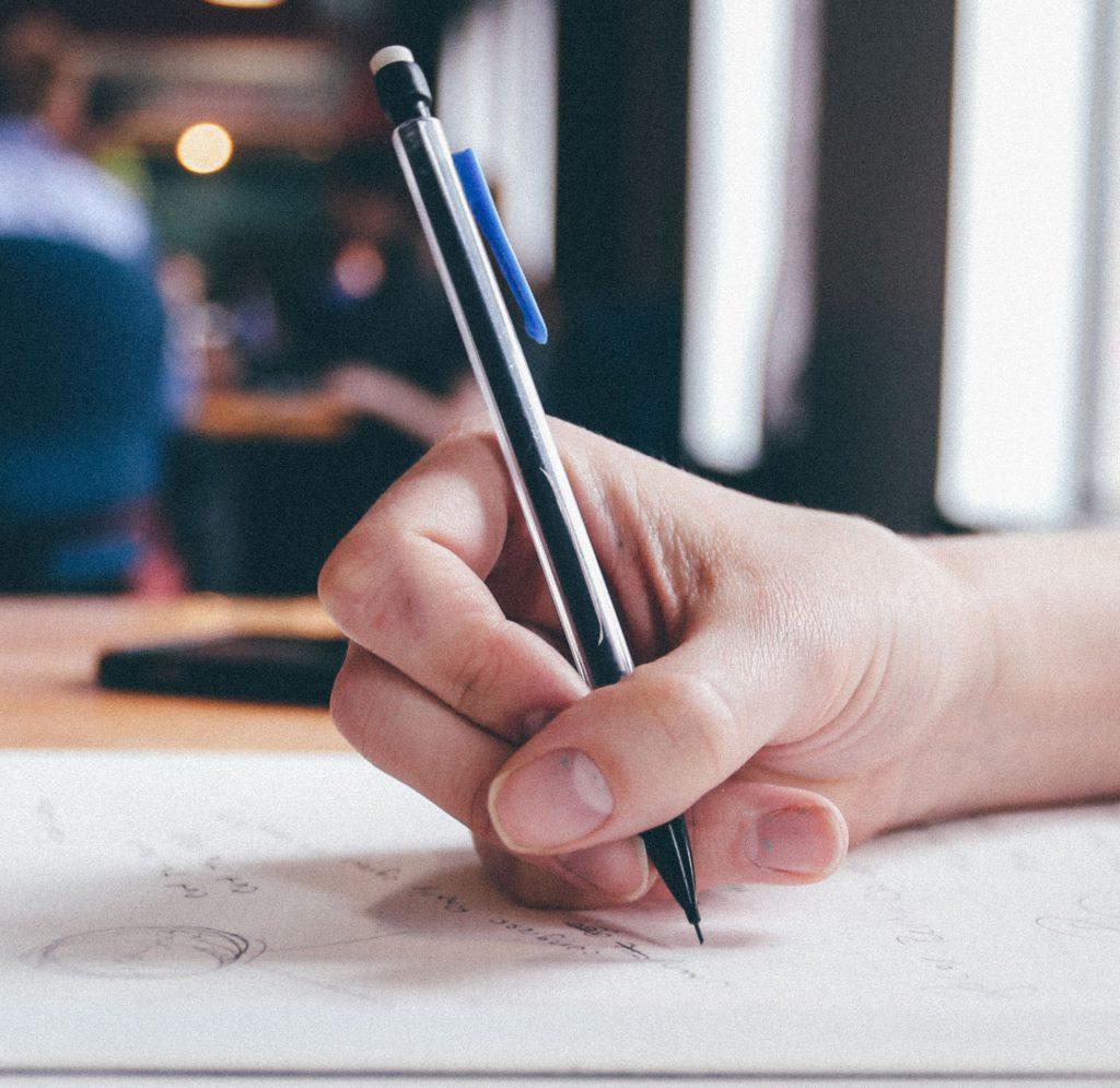 Falscher Stiftgriff
