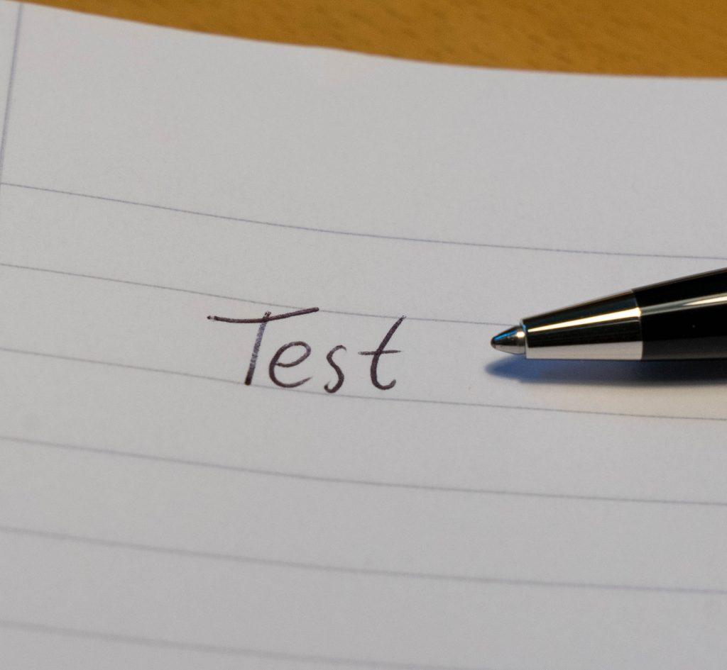 mont blanc writing test