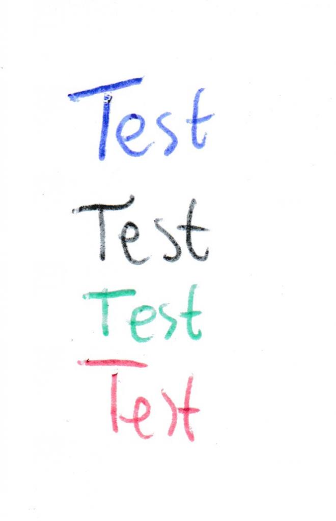 Test 4 Farben Stift